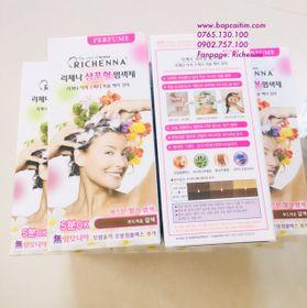 thuốc nhuộm tóc phủ bạc thảo dược Richenna mẫu 2019 giá sỉ