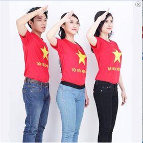 Áo Tôi yêu Việt Nam màu ĐỎ giá sỉ