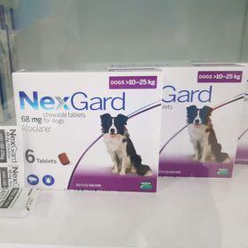 Thuốc trị ve ghẻ bọ chét trên chó hộp 6 viên Nexgard cho chó 10-25kg giá sỉ