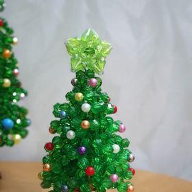 Cây thông Noel bằng cườm kết tay handmade giá sỉ