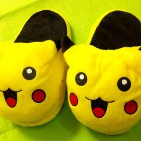 dép bông hình thú pikachu dép bông hình thú trẻ em dài 20cm giá sỉ