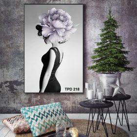Bộ 03 tranh chủ đề Hoa và Cây trang trí chất liệu canvas giá sỉ