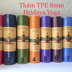 Thảm tập yoga chất liệu TPE 1 lớp 8mm có định tuyến giá sỉ