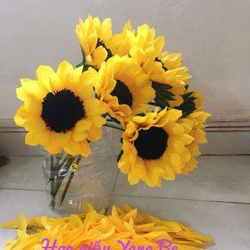 Đầu bông hoa Hướng Dương giấy nhún handmade giá sỉ