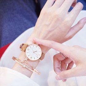Đồng hồ nữ mặt la mã dây da giá sỉ