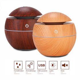 Máy xông tinh dầu hình cầu màu vân gỗ mini tiện dụng giá sỉ
