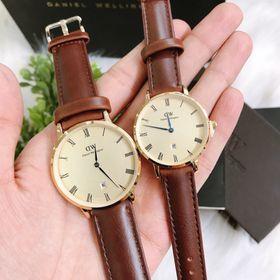 Đồng hồ đôi dây da D.W giá sỉ