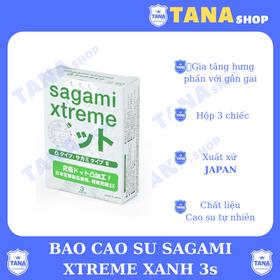 Bao cao su Sagami Xtreme xanh 3s giá sỉ