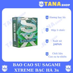 Bao cao su Sagami Xtreme bạc hà 3s - hộp 3cái giá sỉ