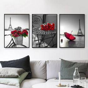 Khung tranh Canvas Hoa Hồng Pháp TPD-046 giá sỉ