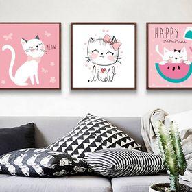 Bộ khung tranh Canvas Mèo kute MK520 giá sỉ