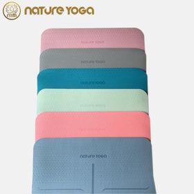 Thảm yoga cao su non định tuyến cao cấp TPE 6mm Lotus Nature giá sỉ