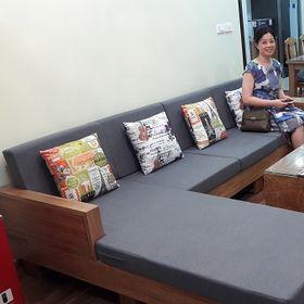 Nệm lót ghế gỗ phòng khách