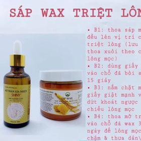 Combo triệt lông tri tham bằng sáp wax nhân sâm và mỡ trăn nguyên chất giá sỉ