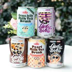 Trà sữa lon Trà sữa trân châu Đài Loan uống liền tiện lợi thùng 24lon 315ml giá sỉ
