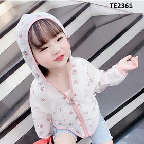 Áo khoác chống tia UV mỏng mát cho bé gái TE2361 giá sỉ