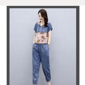 Bộ jeans quần lửng có nón giá sỉ