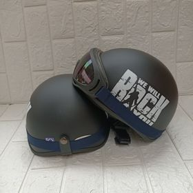 SLL mũ bảo hiểm đi phượt kèm kính uv 1 màu