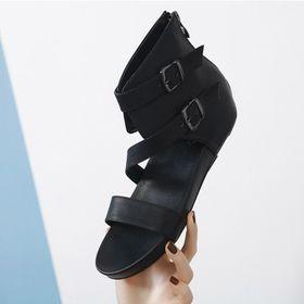 Giày sandal nữ cao cổ quai ngang