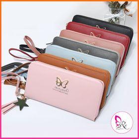 ví tiền nữ dài cầm tay Truelove đẹp nhiều ngăn có khóa họa tiết cánh bướm dễ thương VD06 giá sỉ