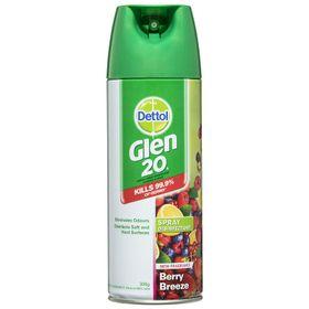 Bình xịt diệt vi khuẩn, virus Dettol Glen 20 Surface Spray Berry Breeze (300g) giá sỉ