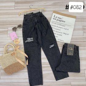 Quần jean baggy nữ rách MS082 thời trang chuyên jean nam nữ 2KJean giá sỉ