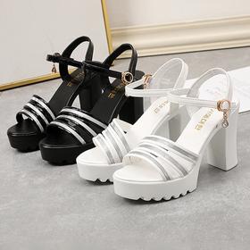 Sandal gót trụ đúc 8cm siêu nhẹ chắc chắn