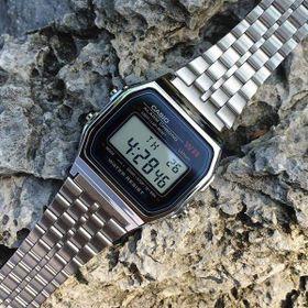 Đồng hồ Nam Nữ A159 WR - Đồng hồ điện tử - Đồng hồ thể thao - Dây thép không gỉ - Chống nước tiêu chuẩn 30m