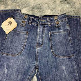 Quần jeans nữ lưng siêu cao