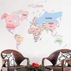 Decal dán tường tên các nước 1055 giá sỉ