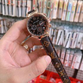 Đồng hồ dây da nữ giả 6 kim L.V giá sỉ