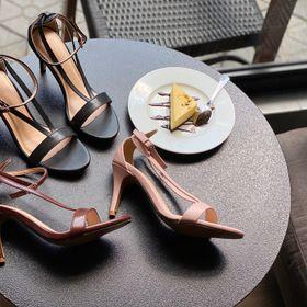 Giày sandal 7cm dây V giá sỉ