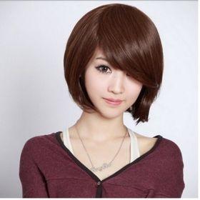 tóc giả nữ T1 ( nâu hạt dẽ ) giá sỉ