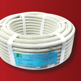 Ống ruột gà luồn điện nhựa màu trắng AS 16-32mm X 50m giá tại xưởng - nhận gia công giá sỉ