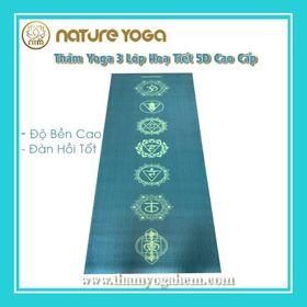 Thảm Yoga Hoa Văn 5D trải sẵn phòng Tập giá sỉ