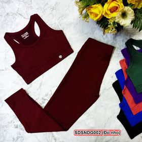 Set quần áo tập gym nữ, vải thun lạnh, co giãn 4 chiều giá sỉ, giá rẻ giá sỉ