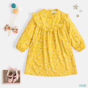 Váy Cho Bé Bái Hoạ Tiết Hoa Nhí Xinh Xắn Đáng Yêu giá sỉ