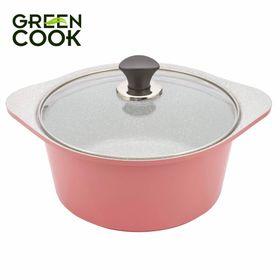 Nồi đúc Ceramic 20cm đáy từ Greencook GCS02-20IH giá sỉ