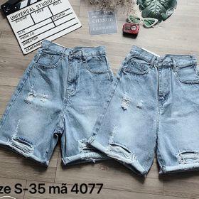 Quần ngố jean nữ rách size đại Ms4077 kho chuyên sỉ jean 2KJean giá sỉ