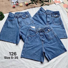 Quần ngố jean nữ size đại MS126 kho chuyên sỉ jean 2KJean giá sỉ