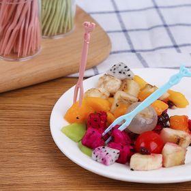 Hủ 50 nĩa nhựa ghim trái cây, rau câu giá sỉ
