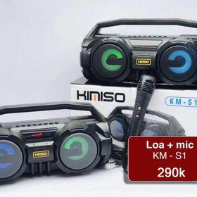 Bộ loa kết hợp míc KiMiSo KM-S1 âm thanh trong trẻo, âm cực to giá sỉ