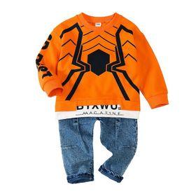 Bộ bé trai cao cấp phong cách Hàn In hình nhện TE2726 giá sỉ