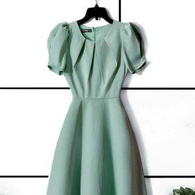 Đầm xoè tròn vải lụa dày cao cấp giá sỉ
