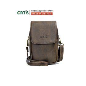 Túi đeo chéo đựng điện thoại nữ CNT TĐX58 xinh xắn NÂU giá sỉ