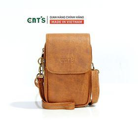 Túi đeo chéo đựng điện thoại nữ CNT TĐX58 xinh xắn BÒ ĐẬM giá sỉ