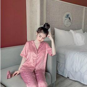 Bộ ngủ lụa quần dài giá sỉ