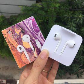 Tai nghe IPhone siu giấy chân dẹp rep 1:1 kết nối bluetooth dây in seri Full Box giá sỉ