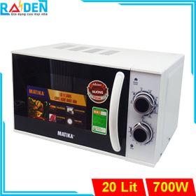 Lò vi sóng 20L Matika MTK-9220 có 3 chức năng: Nướng, hâm nóng, rã đông thức ăn tự cài đặt theo trọng lượng giá sỉ