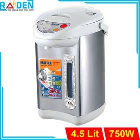 Bình thủy điện 4.5L Matika MTK-8145 có chức năng giữ ấm mức 80 & 90 độ C giá sỉ